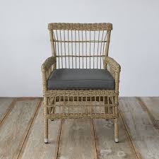 Woven Chairs Dining Trellis Weave All Weather Wicker Dining Chair Wicker Dining