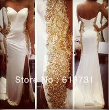 aliexpress buy new arrival hight quality white gold white and gold prom dress on the hunt