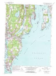 Ri Map Narragansett Pier Topographic Map Ri Usgs Topo Quad 41071d4
