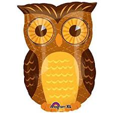owl balloons owl party mylar balloon 18 inch multi 1 by anagram