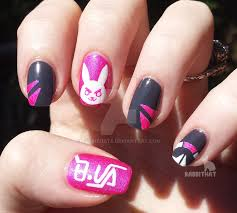 overwatch d va nails by rabbithat8 da3ing6 png 1024 921 nail