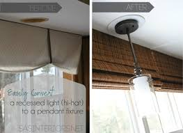 kitchen sink lighting decorating recessed light conversion kit with glass shade pendant