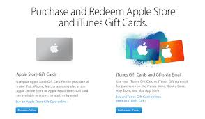 sending gift cards online how to redeem an apple store gift card online