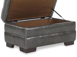 Ottoman Styles Appealing Casual Of Top Grain Leather Storage Ottoman Styles And