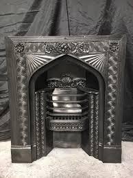 antique georgian cast iron fireplace insert surround in