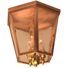 Ceiling Light Bracket Annapolis Flush Mount Copper Colonial Ceiling Light