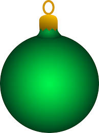 green tree ornament free clip