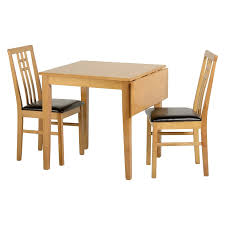 Drop Leaf Dining Table Sets Vienna 77cm 100cm Drop Leaf Dining Table With 2 Chairs In