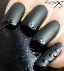 guest post matte black nail art by bec nail gun xs lab muffin