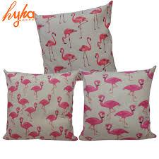 pink flamingo home decor pink flamingo cushion bird cotton linen square decorative pillows