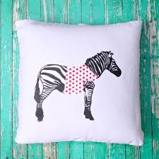 anthropologie knock off zebra pillow fairfield world craft projects