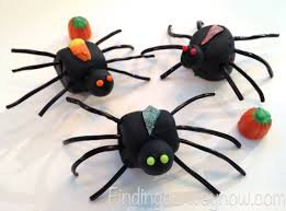marshmallow halloween spiders recipe finding our way now