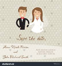 Groom To Bride Wedding Card Wedding Card Newly Wed Couple Save Stock Vector 285099791