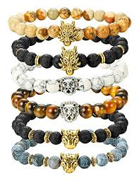 bead bracelet mens images Finrezio 6pcs mens bead bracelets set dragon lion jpg