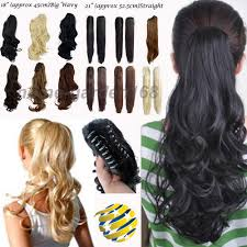 Long Blonde Wavy Hair Extensions by Aliexpress Com Buy 100 Real Thick Curly Wavy Claw Ponytail Hair