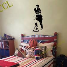 vinyl wall stickers picture more detailed picture about free free shipping footballer vinyl wall sticker children bedroom football decal art sticker footballer soccer wall