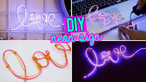 diy super easy neon sign word with el wire youtube