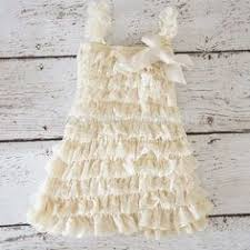 cream and navy blue baby lace dress with bow sweet petti ruffle