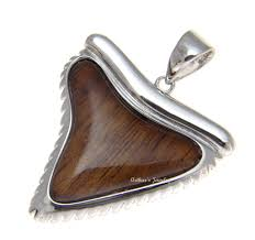 Koa Wood Plumeria Flower Sterling Silver Pendant Genuine Inlay Hawaiian Koa Wood Shark Tooth Pendant 33mm Sterling