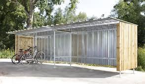 cache conteneur bois abri vélo abris vélos abris à vélos en tôle