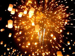 lanterns fireworks fireworks lanterns thai image 155708 on favim