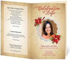 funeral programs templates free creative memorials with funeral program templates images on