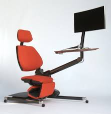 ergonomic lay down desk instead of standing why not lie down while you work this desk lets y