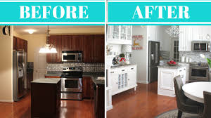 Cheap Kitchen Remodel Ideas Before And After The Best Before After Kitchen Site Image Painted Cabinets Pics For