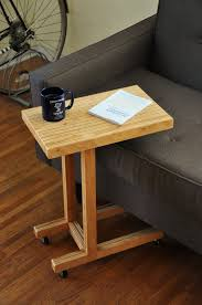 c table with wheels handmade plywood side table