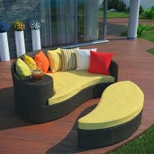 outdoor patio bed furniture outdoor patio wicker daybed brown yellow