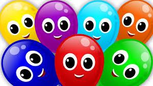 balloons color song rainbow colors song nursery rhyme learn colors