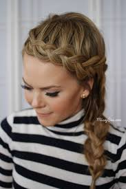 plait headband braided headband side braid