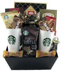 coffee gift basket starbucks coffee for two glitter gift baskets