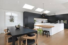 kitchen black and white kitchen ideas features glossy white