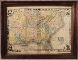 Southern States Map Lot 1 Harper U0027s Southern States Civil War