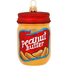 peanut butter jar glass ornament bronner s