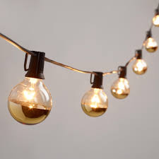 gold dipped glass orb 20 bulb string lights outdoor spaces
