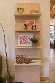 remodelaholic how to build a one sheet plywood leaning shelf