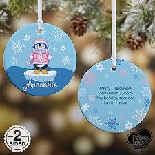 personalized precious moments penguin christmas ornament