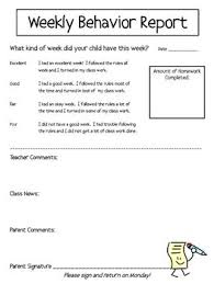 behaviour report template the 25 best weekly behavior report ideas on daily