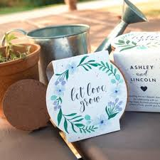party favors for weddings plantable seed wedding favors catalog botanical paperworks