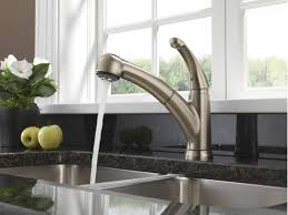 delta kitchen faucets warranty faucet com 467 ss dst in brilliance stainless by delta