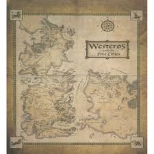 Map Of Westeros World by A Song Of Ice And Fire 7 Book Box Set Westeros U0026 Free Cities