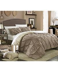 Taupe Duvet Amazing Deal On Chic Home 3 Piece Talia Pleated Pin Tuck