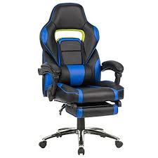reclining gaming desk chair langria high back racing style faux leather executive computer