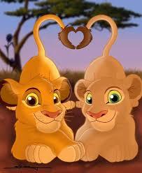 lion king drawings simba nala
