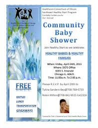 community baby shower april 24th healthcare consortium of illinois