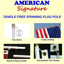 Spin Flag Amazon Com Flag Pole 6 Ft Heavy Duty Aluminum Spinning Tangle