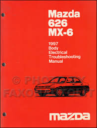 1997 mazda 626 u0026 mx 6 repair shop manual original