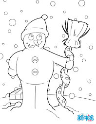 christmas snowman coloring pages hellokids